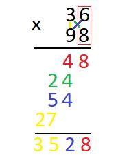 Как умножать числа столбиком